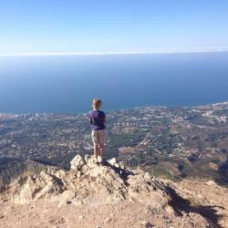 Climbing La Concha